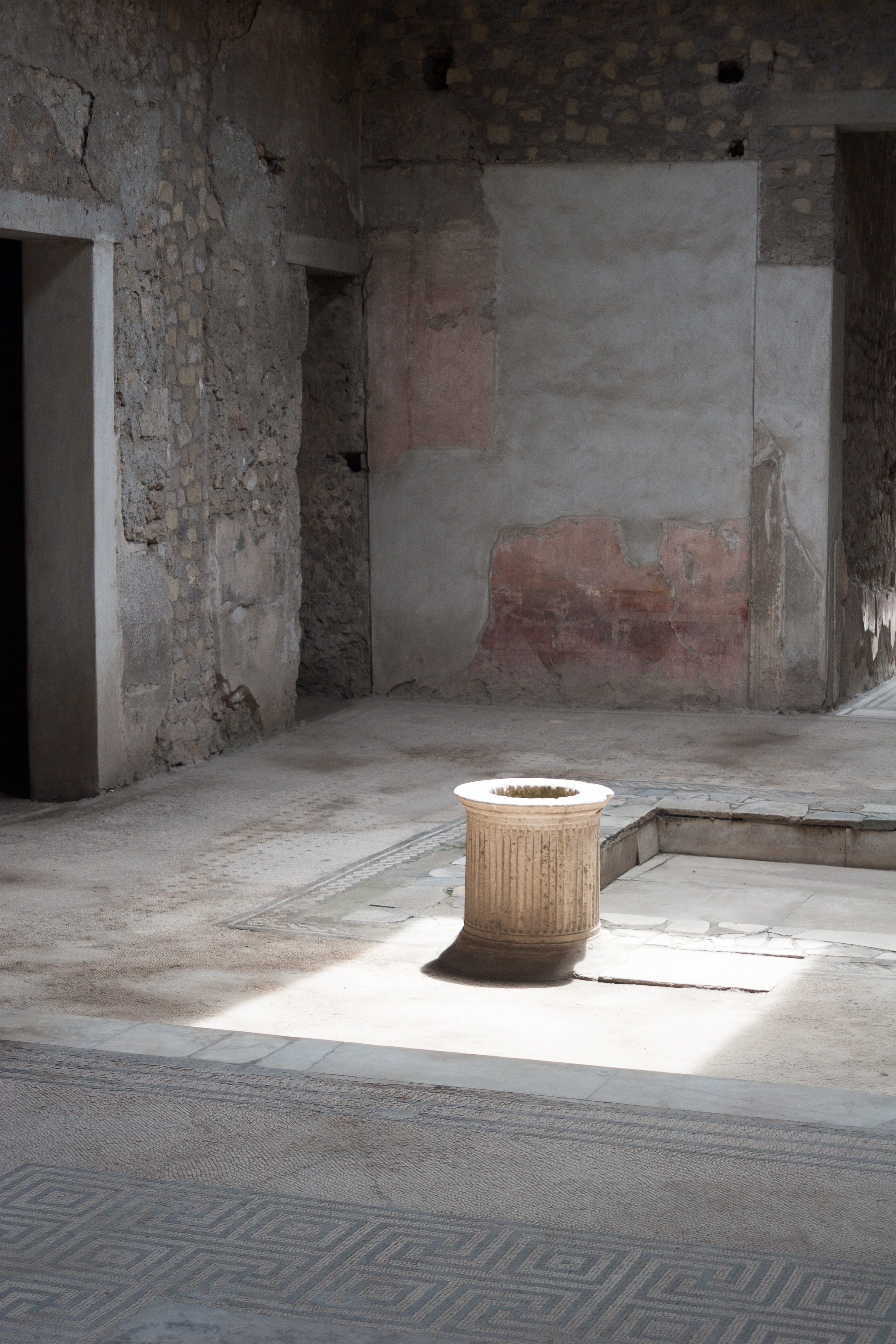 Atrium, with Light, Pompeii, Italy. May 2015.